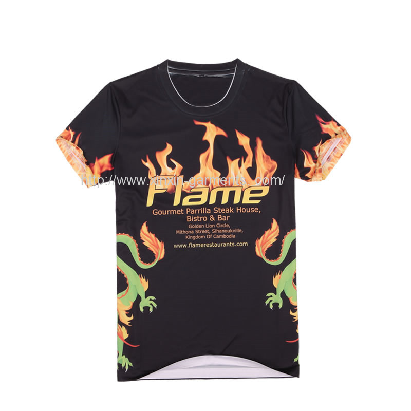 China Manufacturing Custom Design Sublimation Printing Men's T Shirt R209