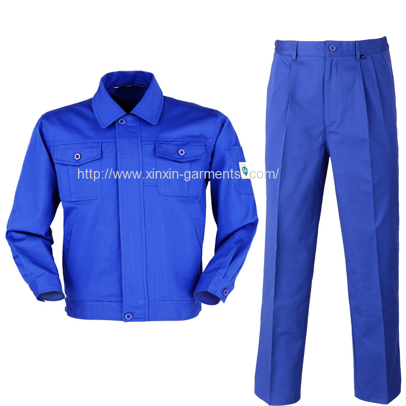 2018 New Design High Quality Cotton Blue Work Wear for Men (W310)