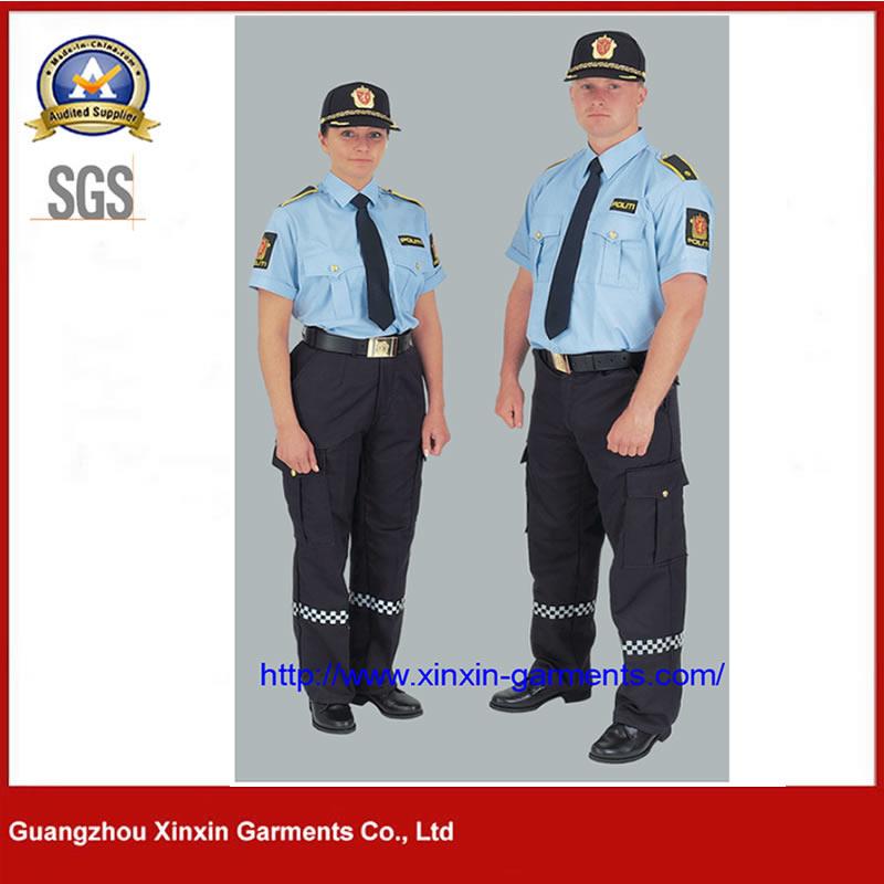 2021 New Design Cheap price Guangzhou Factory Custom Cotton Polyesetr Police Army Uniform (W2110)