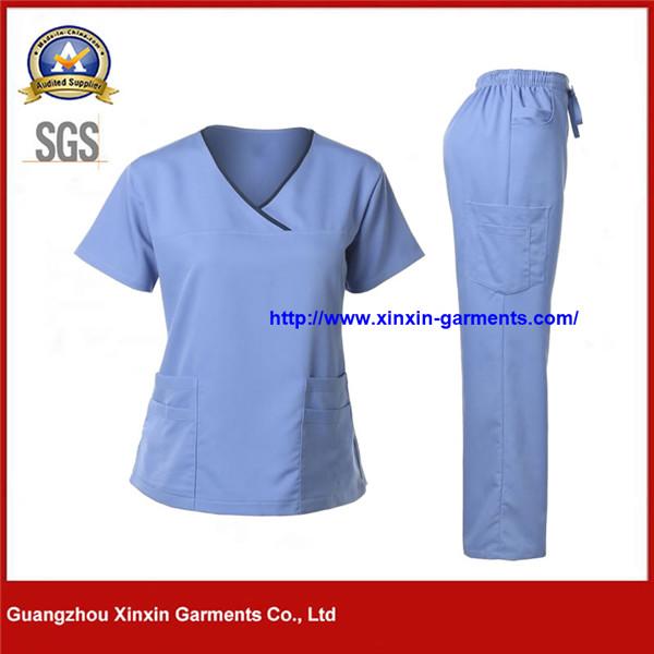 Cheap Wholesale Female New Style Fashionable Nurse Uniform Designs (H137)