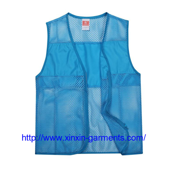 Cheap custom unisex advertising volunteer vest 104