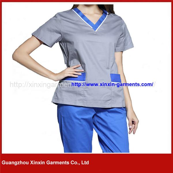 China Manufacture V Neck Nurse Uniforms Medical Scrubs Design (H26)
