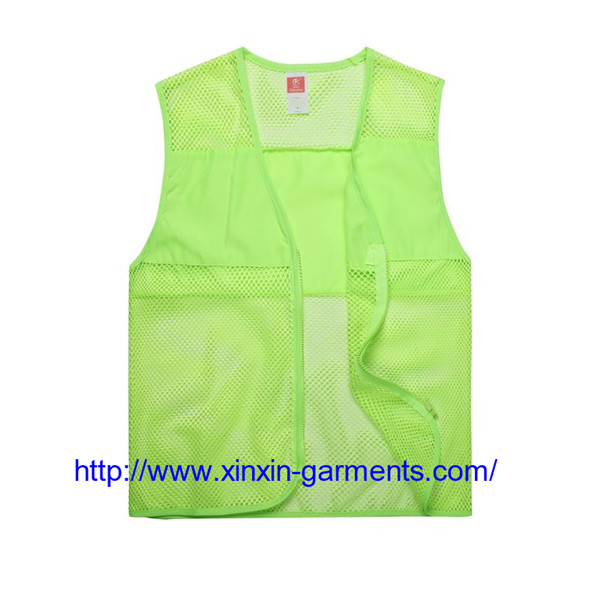Custom logo OEM colors garment uniform promotion worker volunteer vest for advertising 104