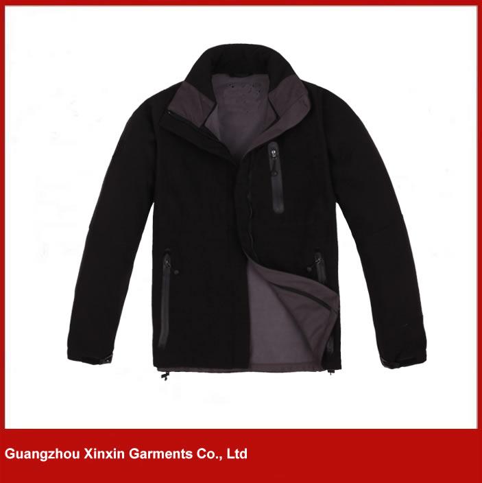 Custom made soft polar fleece sport softshell jacket for men (J70)