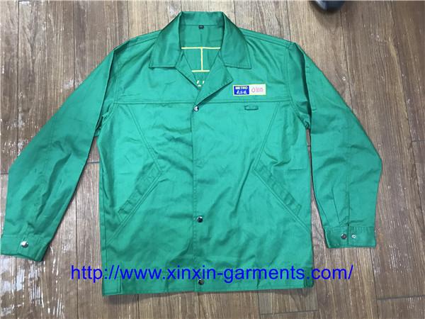 Dark Green100 Cotton Shirt and Pants Worker Welder Safety Uniforms W2105