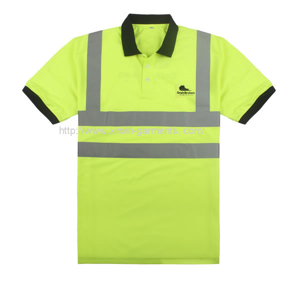 Factory Wholesale Reflector HI vis Polo Working Shirts for Safety Workers (W300)