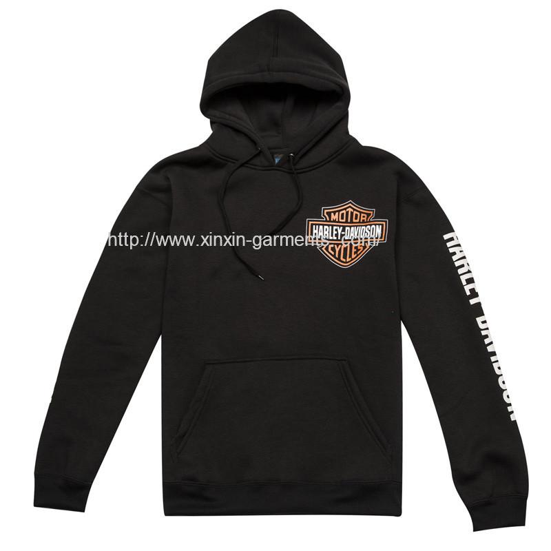 Guangzhou Factory Fashion Full Printing Cotton Black Hoody for Boys Sport Wear (T289)
