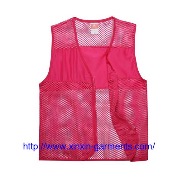 High Quality Colorful Custom Advertising Waistcoat Promotional Volunteer Vest Waistcoat 104