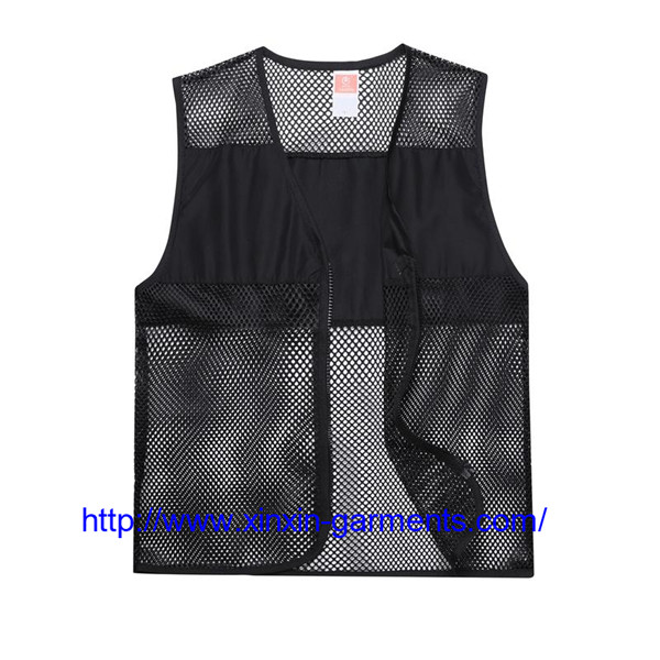 High quality customized breathable barber supermarket work vest with logo 104