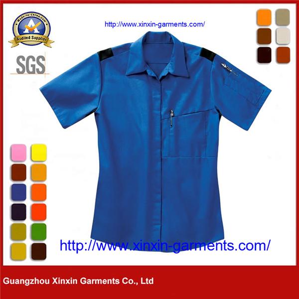 OEM Corporate Workers Uniform Ladies Short Sleeve Shirt W2635