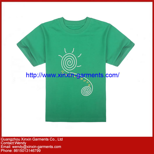 OEM Factory Silk Screen Printing Tee Shirts for Promotion with Your Own logo (R46)