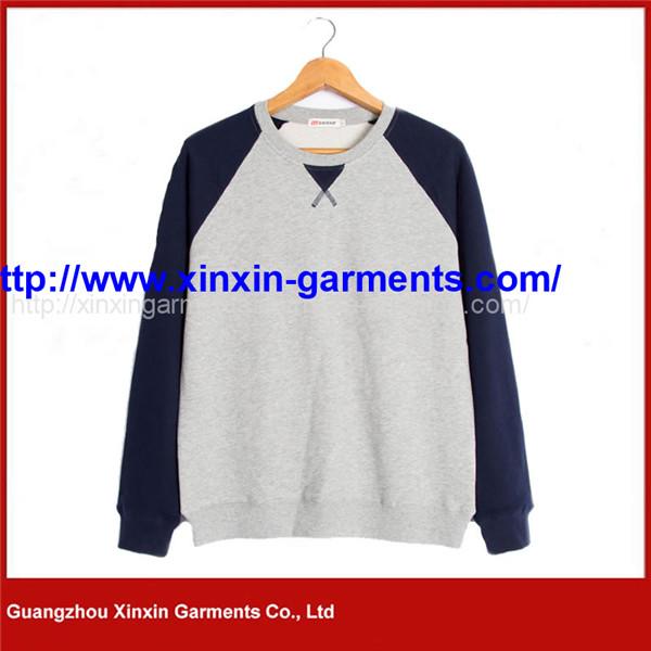 Wholesale Custom Men Plain Solid Color Crew Neck Sweatshirts (T178)