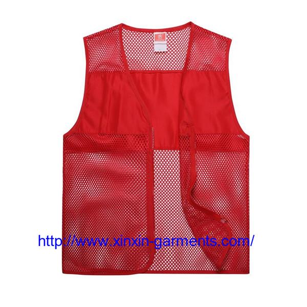 Wholesale Custom Polyester Sleeveless Work Volunteer Vest With Any Logo 104