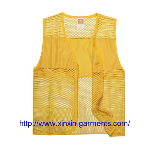 Wholesale Custom Sleeveless Embroidery Logo Children Size Cheap Promotional Vest 104