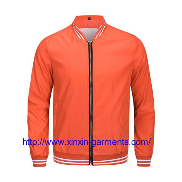 casual custom men light sherpa nylon zip pullover jacket promotional running waterproof CX111
