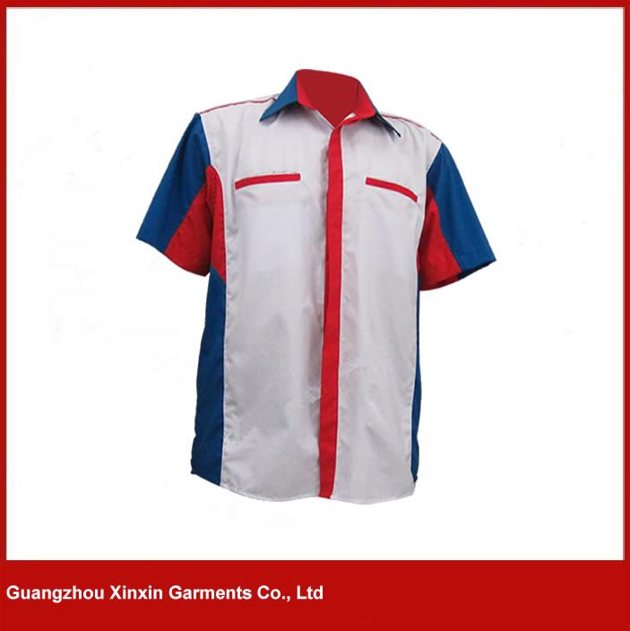 Customized cheap price worker shirts maker in guangzhou China(S90)