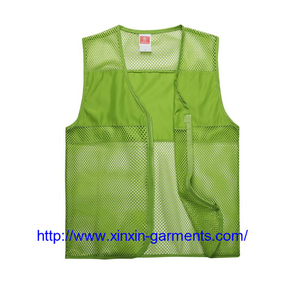 custom logo print Anti-Wrinkle gabardine fabric volunteer promotional vest 104