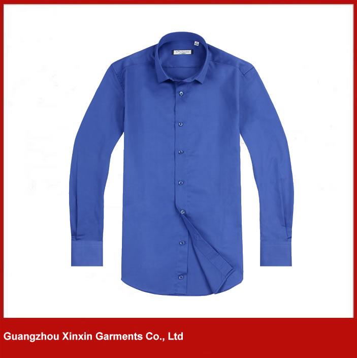 plain blue slim fit shirts mens formal dress shirts (S78)