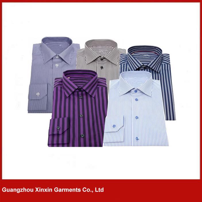 new design men cotton Dress Shirts stripe shirts S80