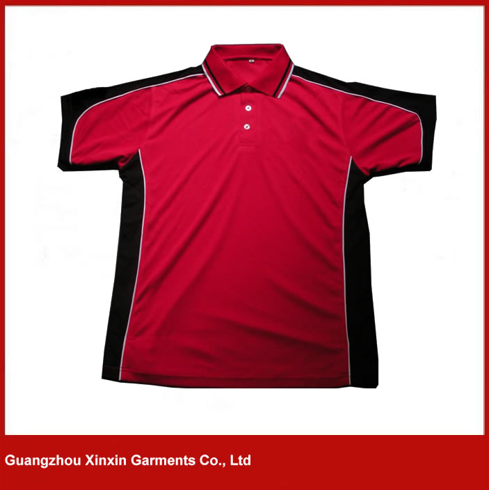 Custom design red black high quality dry fit new model shirts for men 2016(P60)