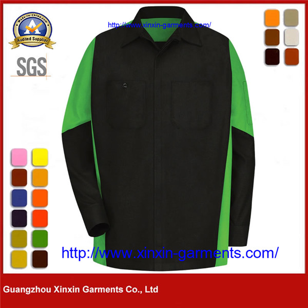 Mens Outdoor Green Corporate Shirt Real Work Wear Uniform W2606